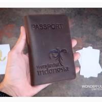 Cover pasport KULIT DOMPET Sampul Paspor KULIT WONDERFUL INDONESIA