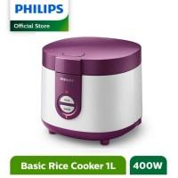 PHILIPS Rice Cooker 1L HD3116/30 - Ungu / Magic Com 1 Liter HD 3116/30