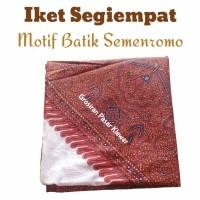 Iket Kepala Batik Jawa / Iket Blangkon Segiempat Motif Batik Semenromo
