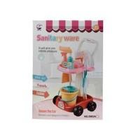 Dedesh Mainan Edukatif Anak Gerobak Sapu Pel Pembersih Sanitary Ware