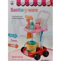 Didinshop222 Mainan Edukatif Anak Gerobak Sapu Pel Pembersih Sanitary
