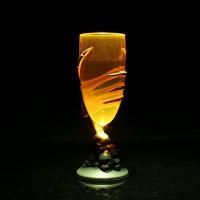 Gelas Plastik dengan Hiasan Tangan Tengkorak Horor+Lampu LED untuk