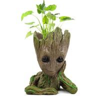 Groot Pot Bunga Pot Bunga Pot Patung Manusia Pohon Lucu Model Mainan