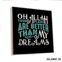 Poster Art Shabby Chic Quotes Islamic Dekorasi Ruangan Rumah Muslim