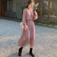 Wanita Gaun Sifon Musim Semi Musim Panas Fashion Wanita Lengan