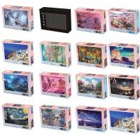 Jigsaw Puzzle dengan Gambar Puzzle 1000 Buah Mini Kayu Perakitan