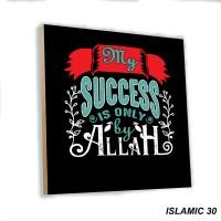 Poster Dinding Quotes Islami Wall Home Decor Shabby Chic Hiasan Muslim