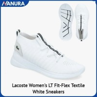 SNEAKERS LACOSTE WOMEN'S LT FIT-FLEX SEPATU KASUAL ORIGINAL TEXTILE