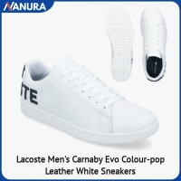 SNEAKERS LACOSTE MEN'S CARNABY EVO COLOR POP SEPATU KASUAL ORIGINAL