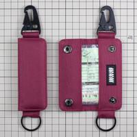 Gantungan Kunci Mobil Motor Carabiner Dompet STNK Slim DS-62 - Marun