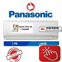 PANASONIC AC 1 PK YN9SKJ +PASANG + ACCESORIES PIPA 3 MTR