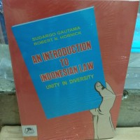 An Introduction To Indonesia Law Unity In Diversity
