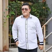 Kemeja Lengan Pria Panjang Jumbo/Baju Putih Formal Ukuran Besar Kantor