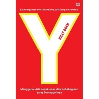 Buku Y-Menggapai Arti Kesuksesan dan Kebahagiaan yang Sesungguhnya
