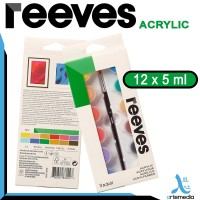 Reeves 12x5ml Mini Acrylic Set - cat akrilik mini set
