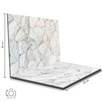 Alas Foto Lipat Batu Putih & Marmer 42x30 cm/ Background Foto (SNL-09)