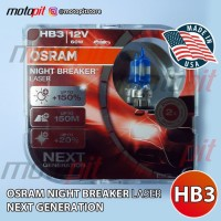 OSRAM NBR Laser HB3 60W 12V Night Breaker Next Generation NBL +150%