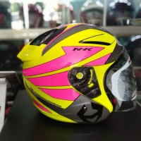 HELM HALF FACE NHK R1 YELLOWPINK PIS