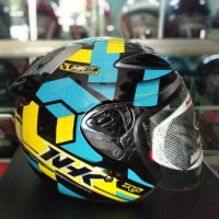 HELM HALF FACE NHK R6 AIRFIT YELLOW BLUE FLUO