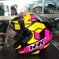 HELM HALF FACE NHK R6 AIRFIT YELLOW FLUO PINK FLUO