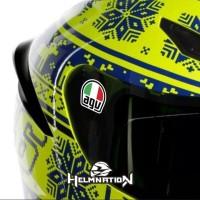 Cutting Stiker Visor Helm Decal AGV Italy Kecil