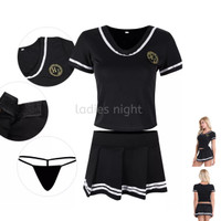 Cerries Costume Lingerie Kostum Bola Cosplay - Top ,Skirt and Gstring
