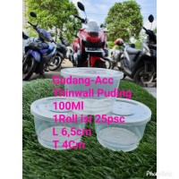Cup Puding 100 Ml 25 pcs Cup Mini Merpati Cup Jelly Slime Ice Cream