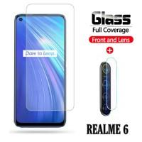 Tempered Glass Realme 6 Pelindung Layar dan Kamera Belakang