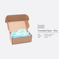 Shredded Paper / Kertas Potong / Kertas Cacah Serut Biru ( 80 Gram)
