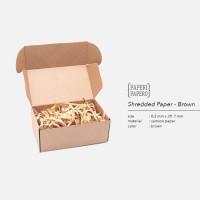 Shredded Paper / Kertas Potong / Kertas Cacah Serut Cokelat ( 80 Gram)