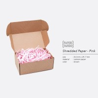 Shredded Paper / Kertas Potong / Kertas Cacah Serut Pink ( 80 Gram)