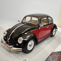 Diecast Mobil Vw kodok Volkswagen beetle 1967 hitam merah kinsmart