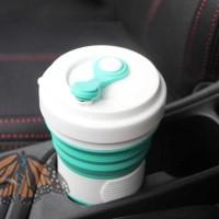 KSO ACEBON Gelas Lipat Silikon Foldable Travel Mug 550ml - GY500 Gray