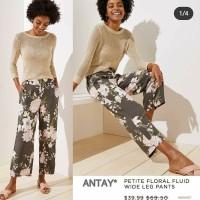 Anntaylo* floral wide leg pants