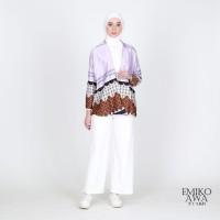 Outer BatilkuUngu - Emikoawa Cardigan Vest Outerwear Wanita Premium