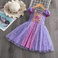 Gaun pesta anak / dress rapunzel