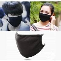 Masker kain, masker hitam polos