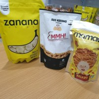 Paket Jajanan Kekinian A, Zanana, Mamade Makaroni, Emmh Sus Kering