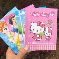 COLOURING BOOK GOODY BAG ULang TAHun buku mewarnai frozen princess