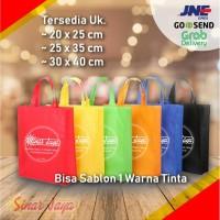 Tas Kain / Spunbond / Goodie Bag Sablon 1 Warna di Pekanbaru
