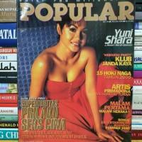 Majalah popular cover yuni shara masih dilengkapi poster