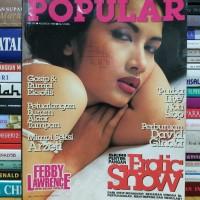 Majalah popular cover febby lawrence masih dilengkapi poster