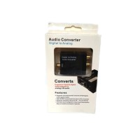 Digital to Analog Audio Converter Toslink Optical/Coaxial to RCA TV