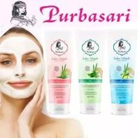 Purbasari Lulur Wajah/Facial Scrub Cucumber/Green tea/Aloe vera 100gr