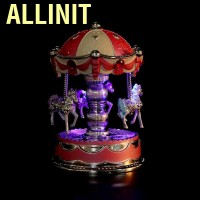 Allinit Carousel Music box Novelty LED music Romantic gift for