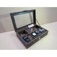 akaz organizer LV Mono Watch Box mix Accesories   Tempat jam tangan