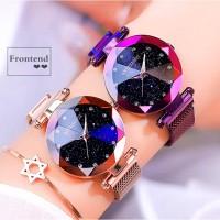 Jam Tangan Wanita RONTHEEDGE 522 Starry sky Magnet Crystal Anti Air