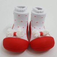 Attipas Baby Shoes Ribbon - Red