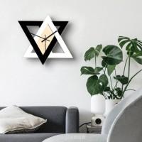 Jam Dinding Gaya Nordic Warna Hitam Putih untuk Dekorasi Ruang Tamu