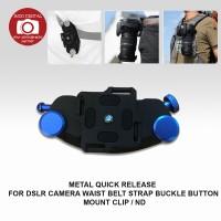 METAL QUICK RELEASE FOR DSLR CAMERA WAIST BELT STRAP BUCKLE BUTTON